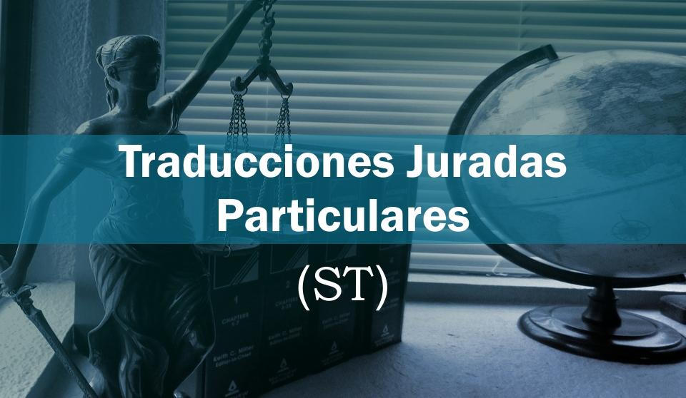 Traducciones juradas particulares