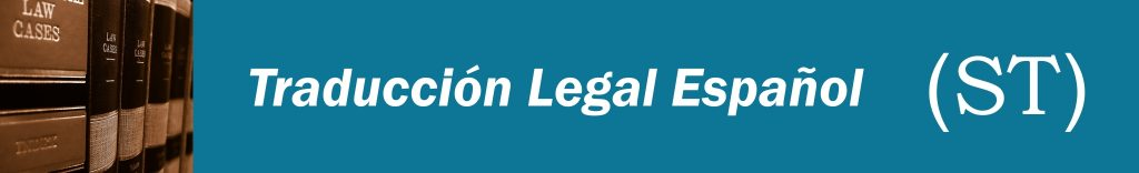 Traducciones Legales Español