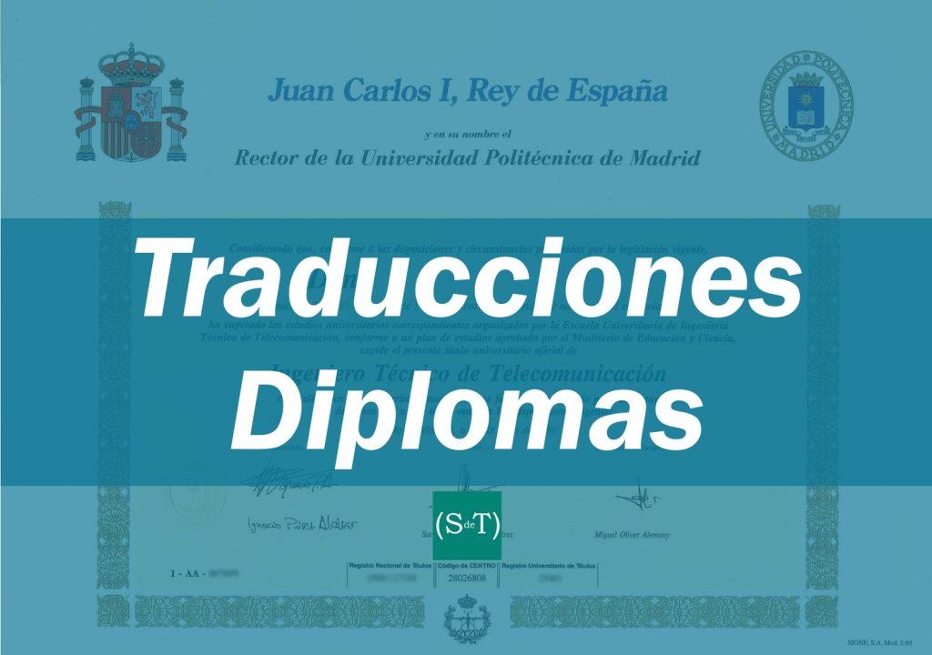 Traducciones DIPLOMAS español