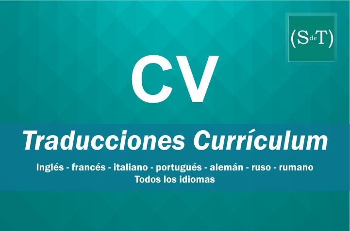 Traducción CV Curriculum