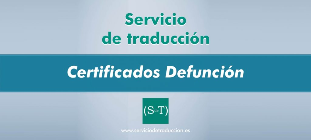 Traduccion certificado defuncion