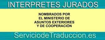 Interpretes jurados - Servicio