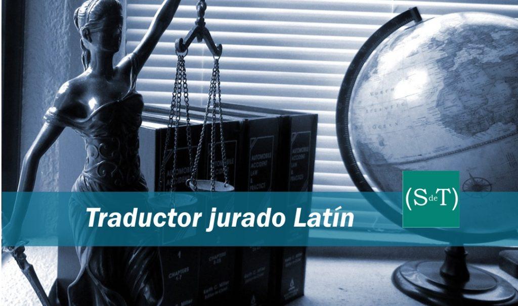 Traductor jurado latín Madrid Valencia