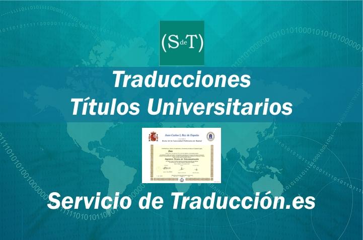 Traduccion titulos universitarios