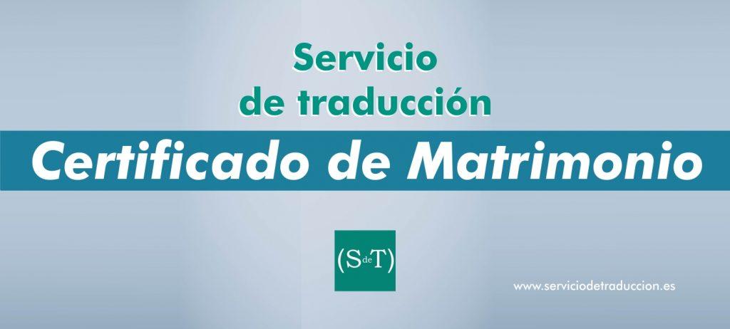 Traduccion Certificado de Matrimonio
