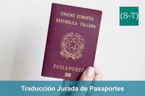 Traducción jurada pasaportes