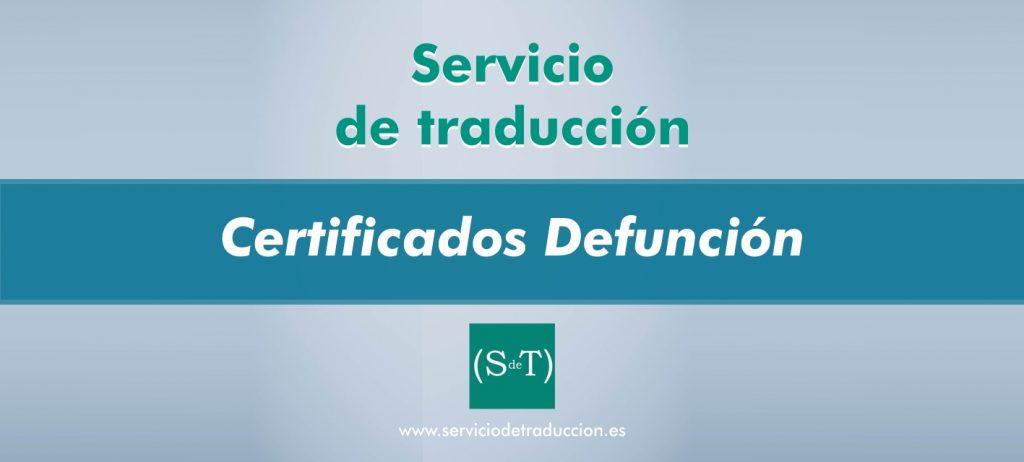 Traduccion certificado defuncion