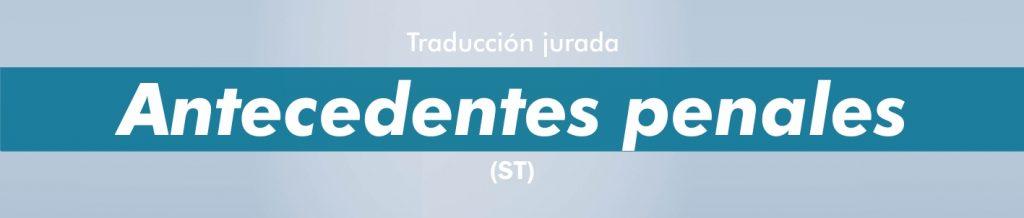 Traducciones certificado Antecedentes penales