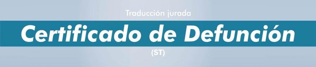 Traducciones certificado Defunción