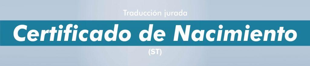 Traductor jurado portugués certificado de nacimiento