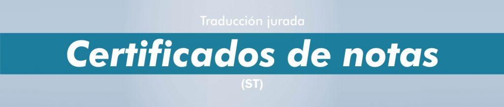 Traductor jurado certificado de notas Valencia